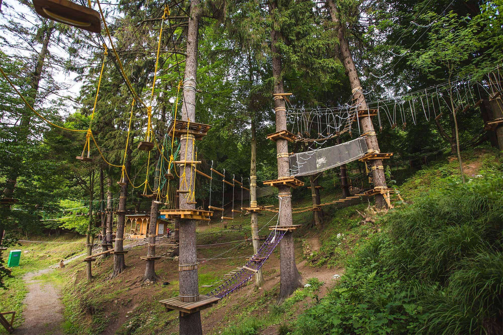 Parc Aventură Băile Tuşnad – trasee