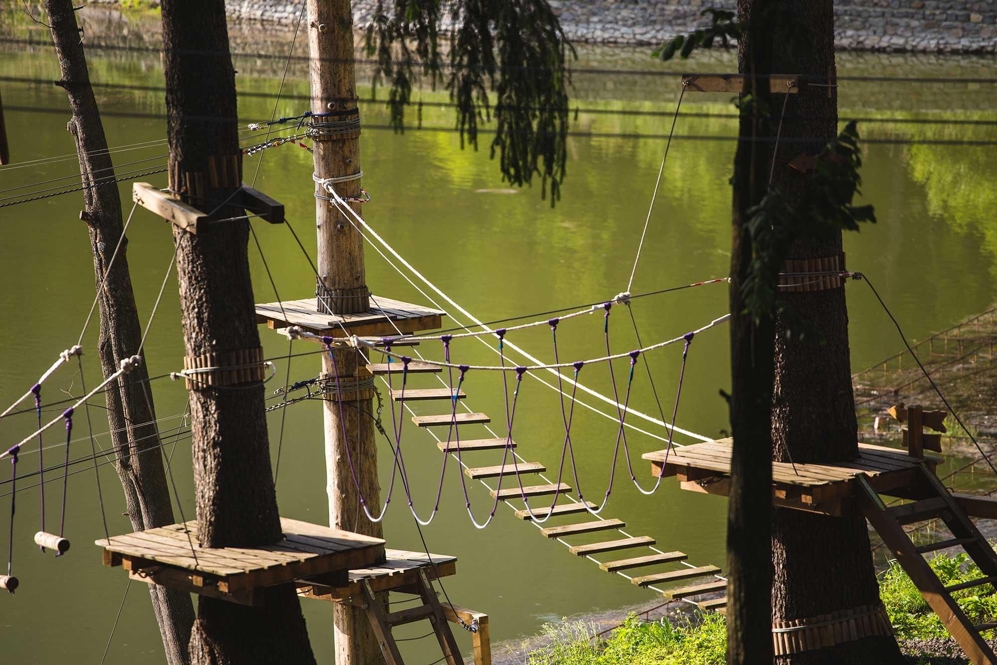 Parc Aventură Tuşnad – traseu lac